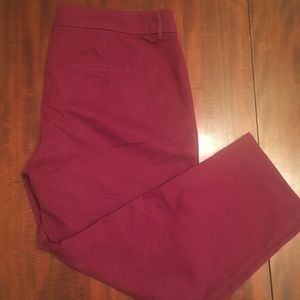 Old navy Harper pants in a cranberry color